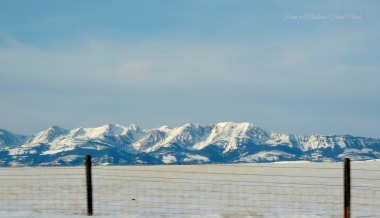 The Bridgers ~ From a Montana Front Porch